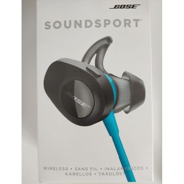 BOSE(ボーズ)のBOSE SOUNDSPORT WIRELESS アクアブルー スマホ/家電/カメラのオーディオ機器(ヘッドフォン/イヤフォン)の商品写真