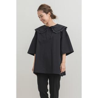 yori☆スカラップカットソー ブラック(Tシャツ(半袖/袖なし))