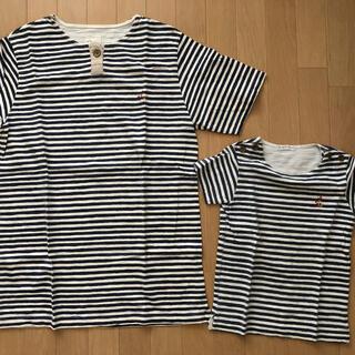 フェリシモ(FELISSIMO)のフェリシモ 親子コーデ 半袖 ストライプ(Tシャツ/カットソー)