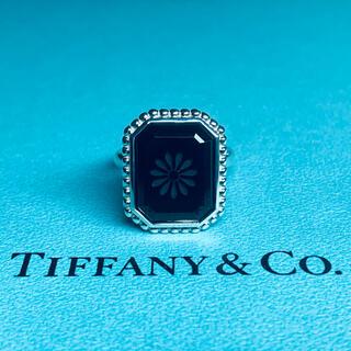 Tiffany & Co. - OLD TIFFANYオールド ティファニー ブラックオニキス デイジー リング