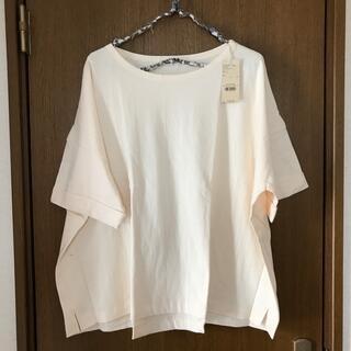 スタディオクリップ(STUDIO CLIP)のstudio clip ユルリラックスボートネックTシャツ L(Tシャツ(半袖/袖なし))