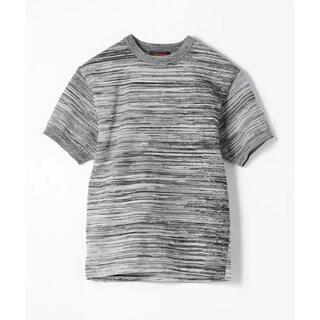 トゥモローランド(TOMORROWLAND)のCABaN ファインポリエステル ハーフスリーブメランジェニットプルオーバー(Tシャツ/カットソー(半袖/袖なし))