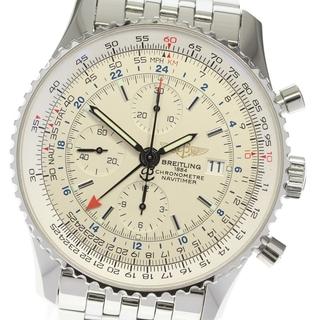 ブライトリング(BREITLING)のブライトリング ナビタイマー ワールド A24322 メンズ 【中古】(腕時計(アナログ))