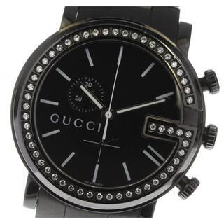 グッチ(Gucci)のグッチ Gクロノ ベゼルダイヤ スモールセコンド 101M メンズ 【中古】(腕時計(アナログ))
