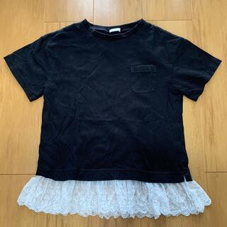 GU - 裾レースTシャツ