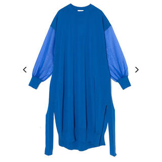 HYKE - 希少 21SS HYKE シアースリーブドレス BLUE