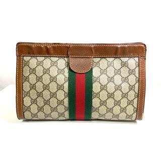 グッチ(Gucci)のGUCCI グッチ シェリーライン デザインセカンドバッグ PVC 正規品(クラッチバッグ)