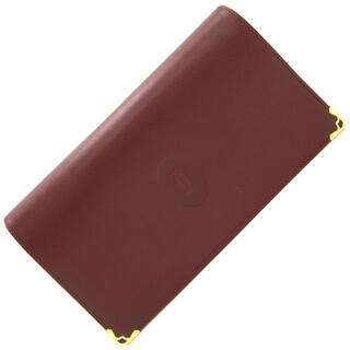 カルティエ(Cartier)の カルティエ 二つ折り長財布 マスト 3184183 中古(財布)