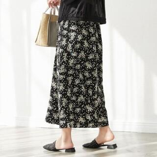 ディスコート(Discoat)のDiscoat ディスコート 花柄フレアスカート マーメイド スカート(ロングスカート)
