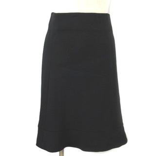 クロエ(Chloe)のクロエ CHLOE スカート ひざ丈 フレア シルク混 黒 ブラック 34 (ひざ丈スカート)
