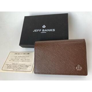 クラウン2 新品 ブラウン 名刺入れ カードケース JEFFBANKS
