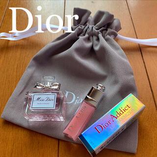 Christian Dior - ディオール  ミスディオール ローズアンドローズ 5ml&マキシマイザー&巾着