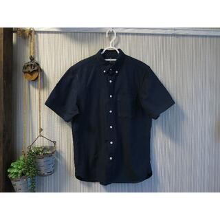 MUJI (無印良品) - ◆無印◆美品 メンズシャツ(ネイビー M)