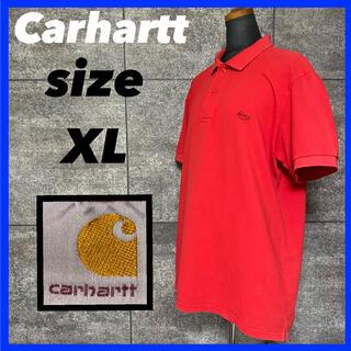 カーハート(carhartt)のcarhartt カーハート ポロシャツ サイズXL ワンポイントロゴ レッド(ポロシャツ)