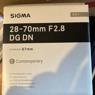 SIGMA - シグマ SIGMA 28-70mm F2.8 DG DN ソニー eマウント