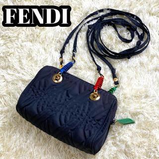 FENDI - 【超希少】 FENDI ショルダーバッグ FFロゴ 黒 キルティング ナイロン