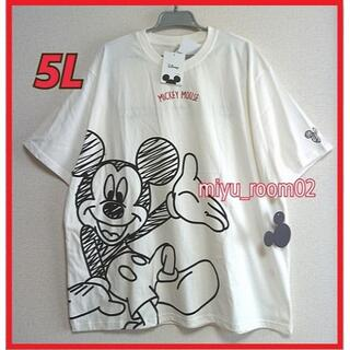 ミッキーマウス(ミッキーマウス)の【新品☆】ミッキー Tシャツ(綿100%)ゆったり☆5L(Tシャツ/カットソー(半袖/袖なし))