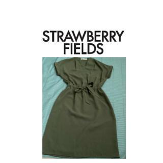 STRAWBERRY-FIELDS - STRAWBERRY-FIELDS 膝丈ワンピース