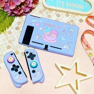 ニンテンドースイッチ(Nintendo Switch)のサンリオ キキララ Switch ソフト 保護 カバー ハンドル付 RY07(その他)