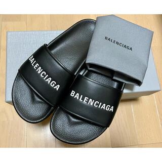 Balenciaga - ★奇跡の再入荷★一点のみ バレンシアガ エブリデイ ロゴ サンダル