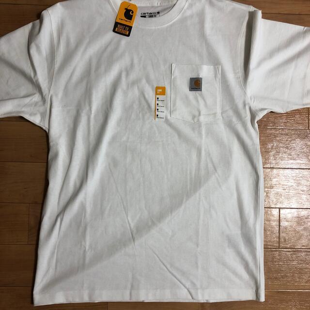 carhartt(カーハート)のカーハート白tシャツ メンズのトップス(Tシャツ/カットソー(半袖/袖なし))の商品写真