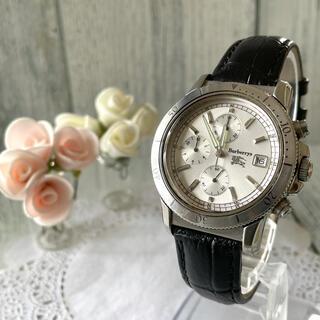 バーバリー(BURBERRY)の【動作OK】Burberrys バーバリー 腕時計 クロノグラフ シルバー(腕時計(アナログ))