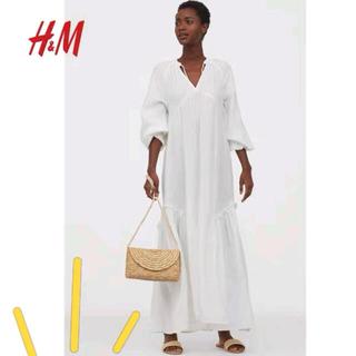 エイチアンドエム(H&M)のHM美品コットンロングワンピースH&M(ロングワンピース/マキシワンピース)