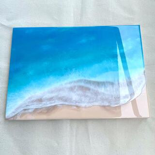 海アート B4 レジンアート 絵 アートパネル インテリア 壁掛け ハンドメイド(アート/写真)
