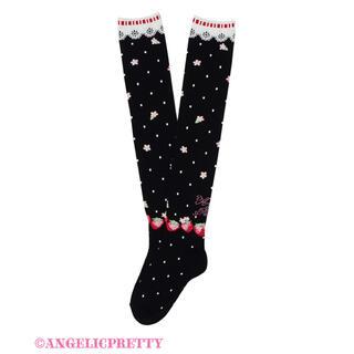 アンジェリックプリティー(Angelic Pretty)のLittle Bunny Strawberryオーバーニー(ソックス)