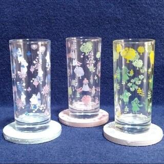 MOOMIN   グラス    珪藻土コースター付きデザイングラス