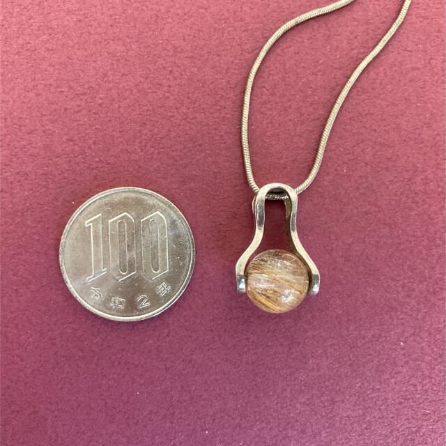 ルチルクォーツ シルバーネックレス silver925 パワーストーン レディースのアクセサリー(ネックレス)の商品写真