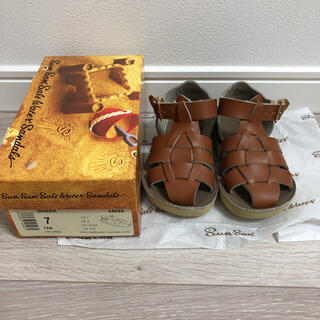 Caramel baby&child  - salt water sandals ソルトウォーターサンダル shark 7