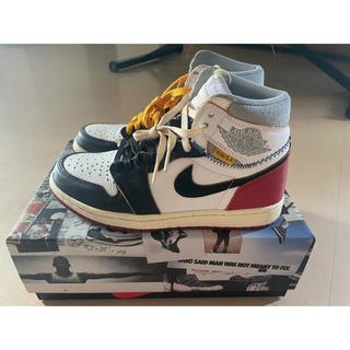 NIKE - Union × Nike Air Jordan 1 Black Toe 25.5