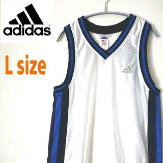 adidas - 90s adidas アディダス 銀刺繍ロゴ バスケユニフォーム ゲームシャツ