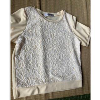 レトロガール(RETRO GIRL)の薄イエロー カットソー(Tシャツ/カットソー(半袖/袖なし))