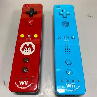 匿名配送 送料無料 Wiiリモコン マリオ モーションプラス内蔵型 2個セット(家庭用ゲーム機本体)