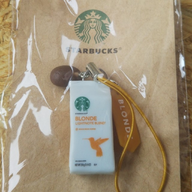 Starbucks Coffee(スターバックスコーヒー)のSTARBUCKS スターバックス コーヒー豆 ストラップ 非売品 エンタメ/ホビーのコレクション(ノベルティグッズ)の商品写真