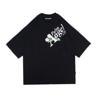 palm angels logo Tシャツ  ブラック(Tシャツ/カットソー(半袖/袖なし))