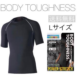 ボディタフネス 半袖クルーネックシャツ ブラック L 冷感シャツ メンズ肌着半袖(Tシャツ/カットソー(半袖/袖なし))