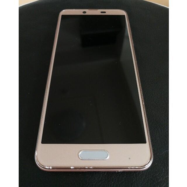 AQUOS(アクオス)のAQUOS sense plus SH-M07 ベージュ SIMフリー ケース付 スマホ/家電/カメラのスマートフォン/携帯電話(スマートフォン本体)の商品写真