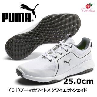 プーマ(PUMA)の新品 プーマ グリップ フュージョン スポーツ シューズ WH 25cm(シューズ)