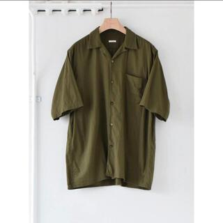 COMOLI - COMOLI 21SS新作ベタシャンオープンカラーシャツオリーブ サイズ3 新品