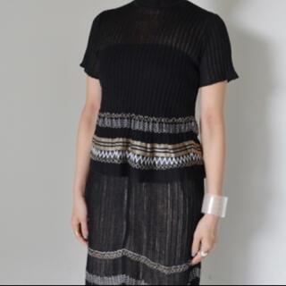 mame - MameKurogouchi 2019ss ニットトップス スカート2点セット