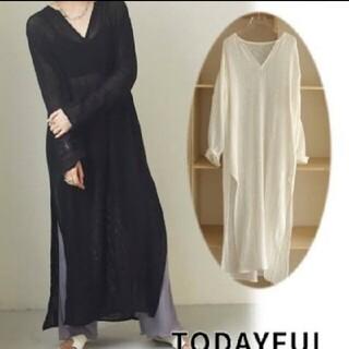 トゥデイフル(TODAYFUL)の新品 Todayful トゥデイフル ドレス ブラック36(ロングワンピース/マキシワンピース)