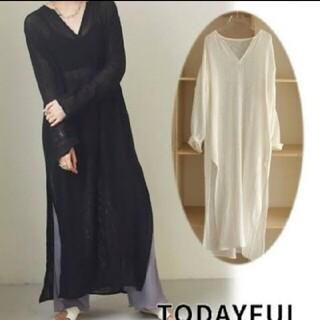 トゥデイフル(TODAYFUL)の新品 Todayful トゥデイフル ドレス ブラック38(ロングワンピース/マキシワンピース)
