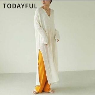 トゥデイフル(TODAYFUL)の新品 Todayful トゥデイフル ドレス ホワイト36(ロングワンピース/マキシワンピース)