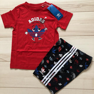 adidas - 【新品】アディダス ベビー  セットアップ 上下 Tシャツ/パンツ 90