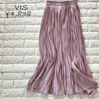 ViS - VIS シャイニーサテンフェードアウトプリーツスカート
