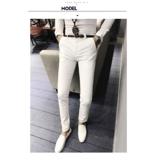 メンズ カジュアルパンツ 夏 ホワイト 白 M メンズのパンツ(ワークパンツ/カーゴパンツ)の商品写真