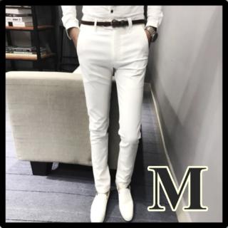メンズ カジュアルパンツ 夏 ホワイト 白 M
